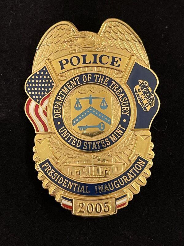 Vintage, Obsolete 2005, United States Mint Police Inaugrural Badge