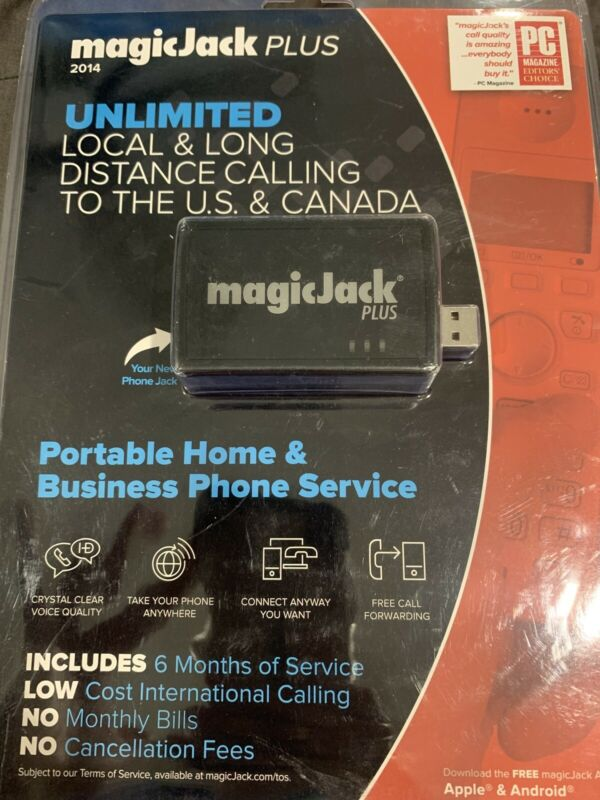 MagicJack Plus Local Long Distance Calling Magic Jack Plus New Sealed