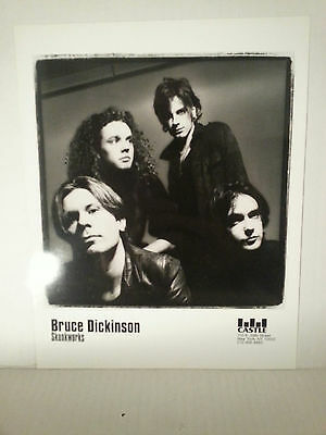 "BRUCE DICKENSON - SKUNKWORKS PROMO PICTURE - RARE - 8"" X 10""-FREE SHIPPING"