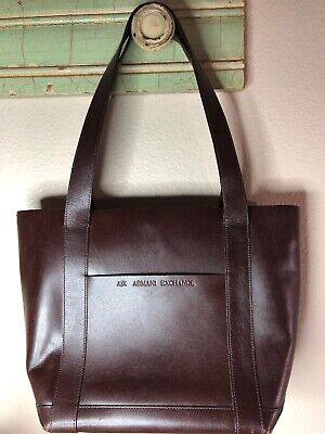 Armani Exchange  Brown Leather Tote (Armani Exchange Ladies Bags)