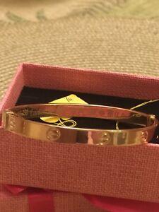 18k bangle  Cartier bracelet 100 %real gold
