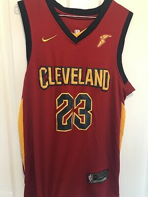 NIKE Basketball Jersey Lebron James 23 Cleveland Cavaliers Mens- Medium-  NBA