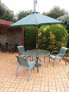 Garden table, 4 chairs, umbrella and stand Melba Belconnen Area Preview