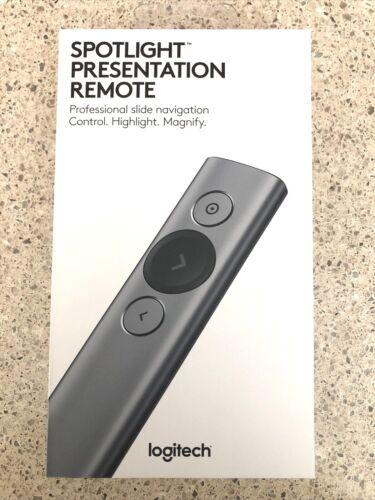 NIB:Logitech Spotlight Presentation Remote - Remote Control Pointer - Slate Gray