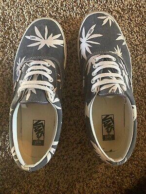 Vans Van Doren TB4R Men's Size 11 Palm Leaf pot Print Canvas Navy Blue Super