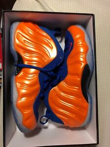 """DS Air Foamposite One, """"Knick's"""" Size 10.5"""