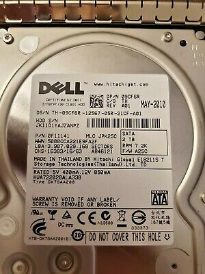 Dell Sata 2tb 7.2k Sas 3.5 Hotplug Internal Hard Drive