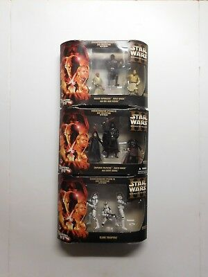 STAR WARS REVENGE OF THE SITH COMMEMORATIVE DVD COLLECTION 3-PACK OF ALL 3