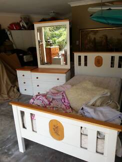 KING SINGLE BEDROOM SET - DRAWERS-BEDSIDE-BED- MATTRESS - SHEETS Murrumba Downs Pine Rivers Area Preview