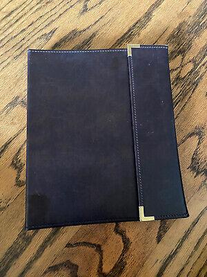 Cambridge Faux Leather Brown Portfolio Binder Folder 3ring