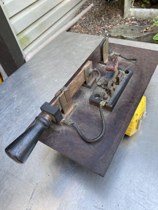 Vtg Old Large Frankenstein Movie Set Copper Knife Switch SteamPunk Detroit