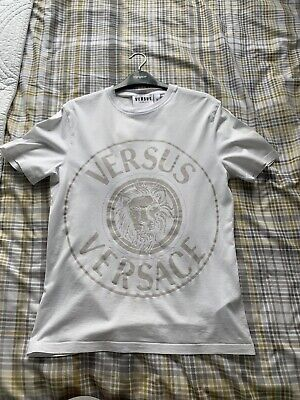 Versace White T-shirt. Men's Size Small. Used