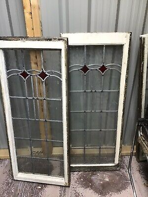 stained glass windows 2 At 47 Long By18 One Large One47 Inches By 32 Inches