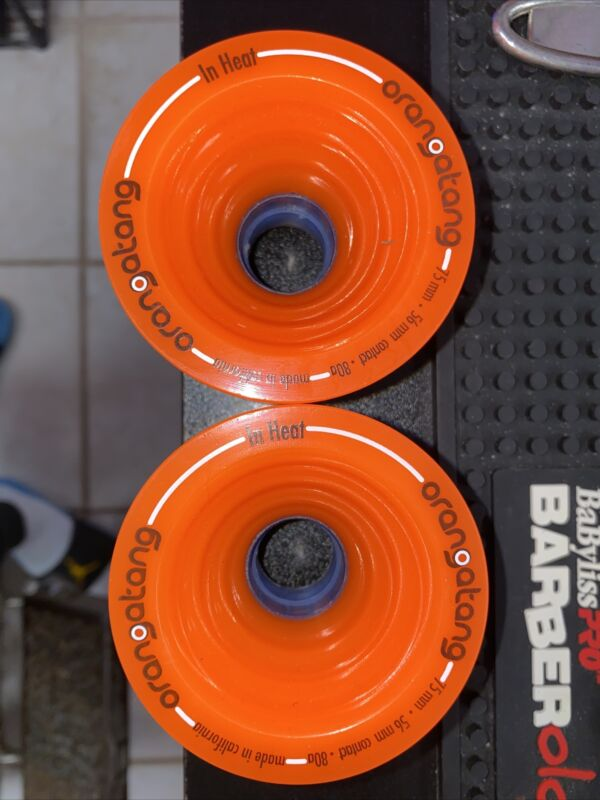 2 NEW LOADED LONGBOARD ORANGATANG  IN HEAT WHEELS 75 MM 80A SET OF 2 WHEELS