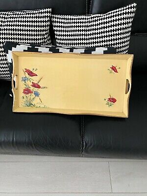 Wooden Hand Painted Serving Tea Tray