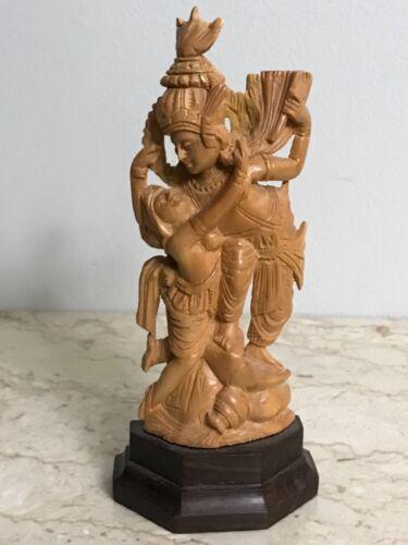 Vintage Indonesia Carved Wood Couple Art Figure Statue Figurine