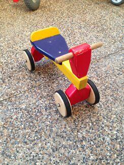 Wooden quad bike children ride on toy.    Burnside Melton Area Preview