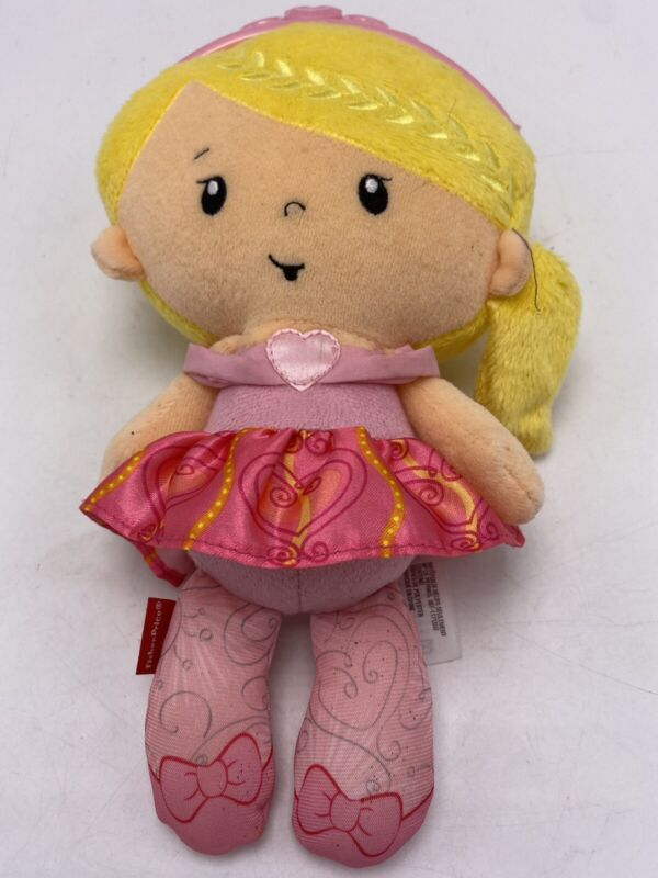 """Fisher Price Toy Lovey Princess Chime Doll 11"""" Plush Rattle Mattel 2014 Baby"""