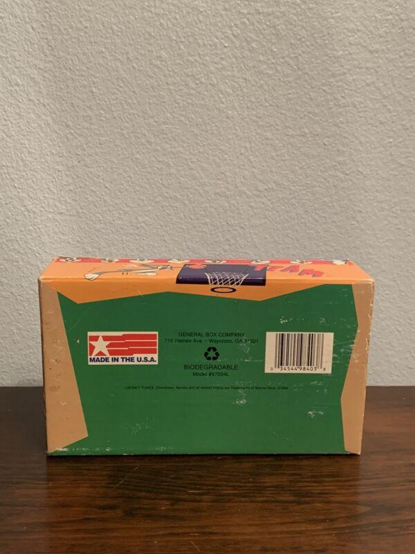 VTG Bugs Bunny school box 1998 Looney Tunes cardboard pencil box