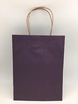Purple Gift Bags 8x4.75x10.5in 100Pcs BagDream Shopping Cub Paper Kraft Retail (Purple Paper Bags)