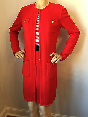 St Johns Red Sea (NWT St John Knit dress & topper red sea coral & navy size 6/8 santana)
