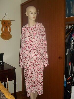 80s Dresses | Casual to Party Dresses 80's vintage designer Norman Hartnell 2 piece long sleeve Dress set SZ L 16   $31.21 AT vintagedancer.com