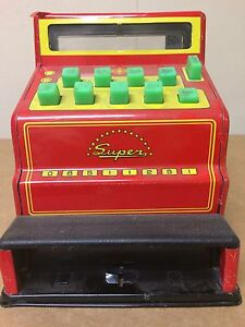 Vintage toy cash register.