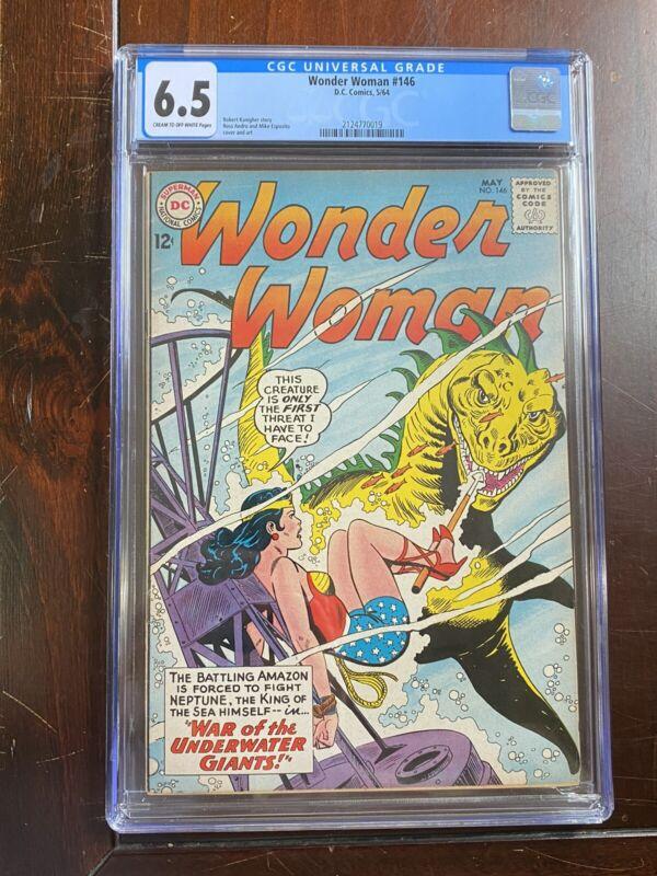 Wonder Woman #146 (1964) CGC 6.5 - C/OW Pages - BONDAGE Cover