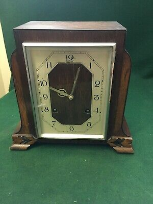 GARRARD BRITISH QUALITY FULLY RESTORED  CHIME MANTLE/SIDEBOARD CLOCK.