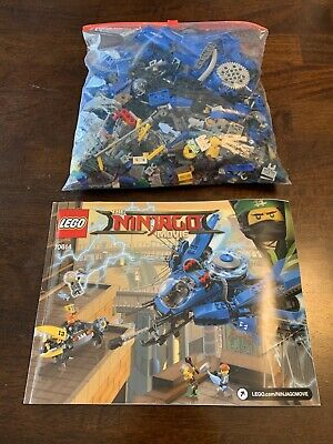 LEGO The LEGO Ninjago Movie Blue Lightning Jet 2017 (70614) Unboxed Opened Used