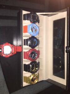 GSHOCK WATCHES 7 AND LEATHER CASE