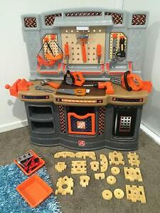 Step 2 Kids Workbench with accessories and Lego Table Rosemount Maroochydore Area Preview