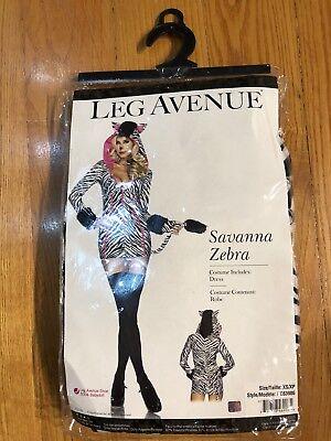 NEW! Sexy Savanna Zebra, Adult Halloween Costume, XS](Halloween Costumes Zebra)