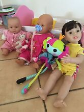 Girls dolls  and crib. Clagiraba Gold Coast West Preview