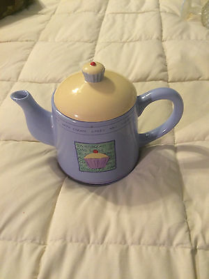 RAYWARE PURPLE YELLOW COFFEE CUPCAKE ROUND TEA POT PITCHER!