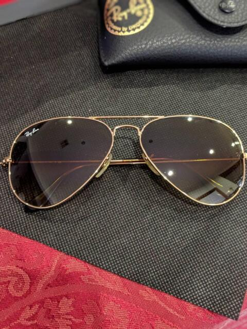e9effdd33bc Ray-Ban Aviator RB3025 001  47 51 58mm Brown  47 Gold ...