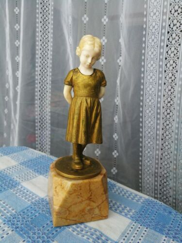 Chryselephantine statuette of young girl