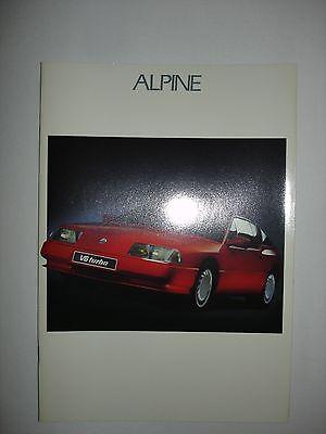 Catalogue ALPINE V6 Turbo