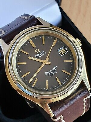 OMEGA Seamaster Cosmic 2000 1970 automatic Cal.1012 gold plated 38.7m mens watch