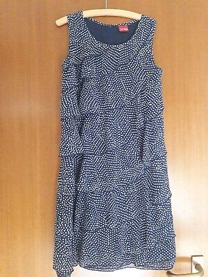 Blau-weiß gepunktetes Mädchen manguun Teens Kleid * Gr. 152 * mit Volants