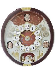 Seiko Special Edition 24 Melodies in Motion Wall Clock with Swarovski Crystals