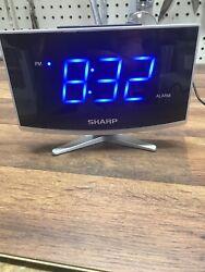 Sharp LED Alarm Clock SPC1203 - USB Port, Jumbo Digital Display