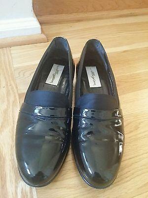 Mezlan Tuxedo Black Patent Leather shoes 8.5M