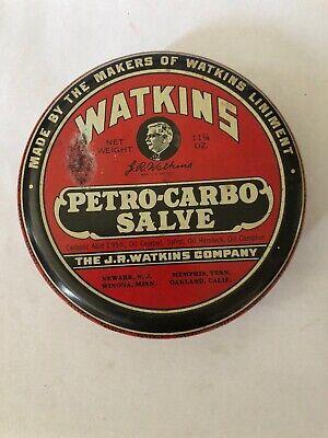 WATKINS PETRO-CARBO SALVE TIN CAN 11 1/4 oz. Medicine Drug Store Apothecary