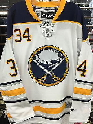 Custom Replica Away Jersey - Buffalo Sabres #34 NEUVIRTH or CUSTOM NAME Reebok Premier Replica Jersey AWAY