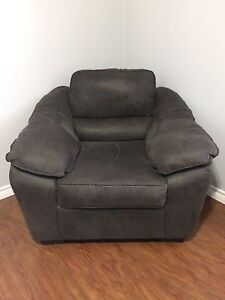 BEST OFFER!! Charcoal grey microfibre Sealy sofa chair
