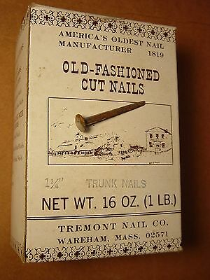"(25) 1 1/4"" Old Fashioned Project Nails Historic Restoration Furniture Trunk Lot"