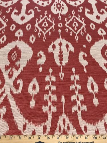Sunbrella Sumatra Ikat Red In/Outdoor Solution Dyed Acrylic
