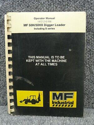 Oem Factory Massey Ferguson Mf 50h 50hx Backhoe Loader Operators Manual