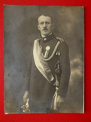 altes Foto 24 x 17,5 cm Schützenverein mit Degen um 1910 ( 9616